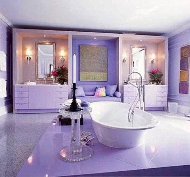 Adrian paun case frumoase for Bathroom ideas violet